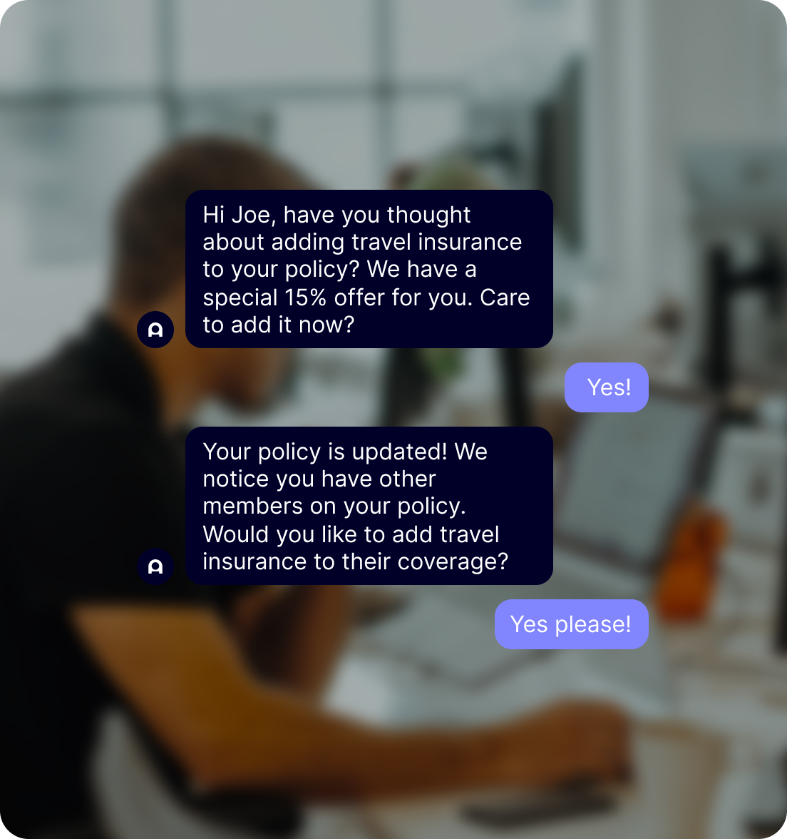 automate actions & generate revenue with the best chatbot for insurance industry