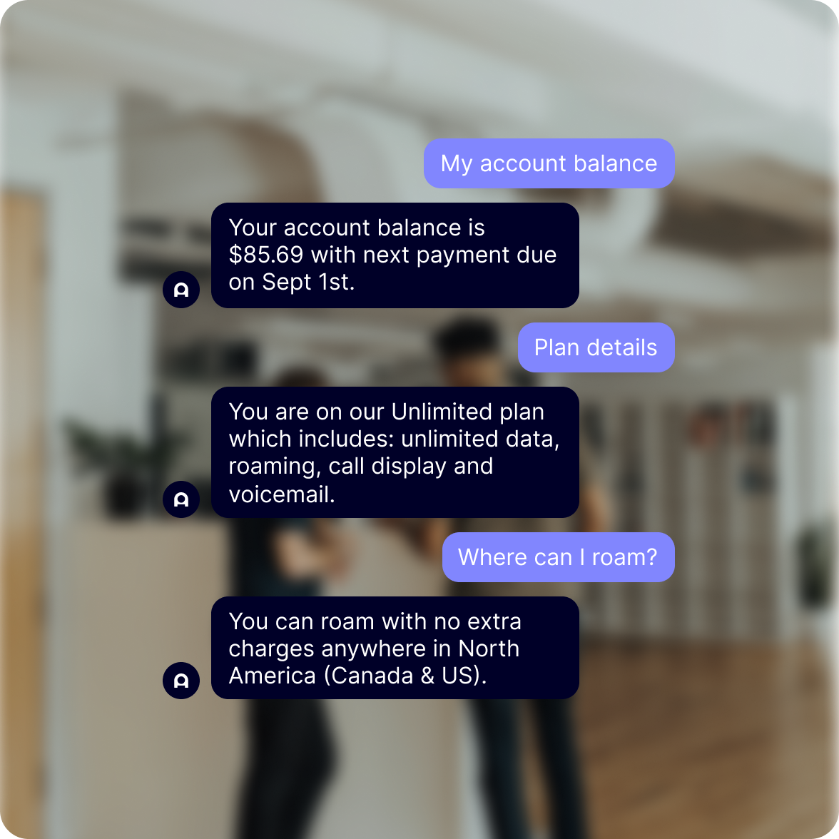 reduce wait time by 95% with a chatbot designed for telecom industry