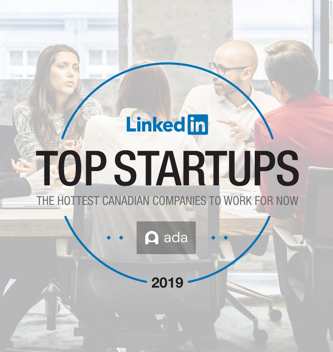 Ada Named to 2019 Linkedin Top Canadian Startups List